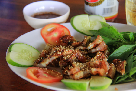 Ba Roi Nuong Rieng Me or Grilled Bacon with Galangal