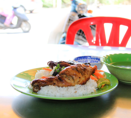 Com tam ga nuong or Grilled chicken and broken rice