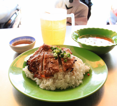 Com Tam Suon Nuong or Grilled Pork Chop and Broken Rice
