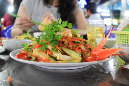 Goi Muc Thai or Thailand-style Squid Salad in Vietnam